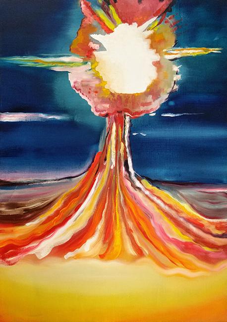 Wouter van de Koot fire painting explosion sky energy