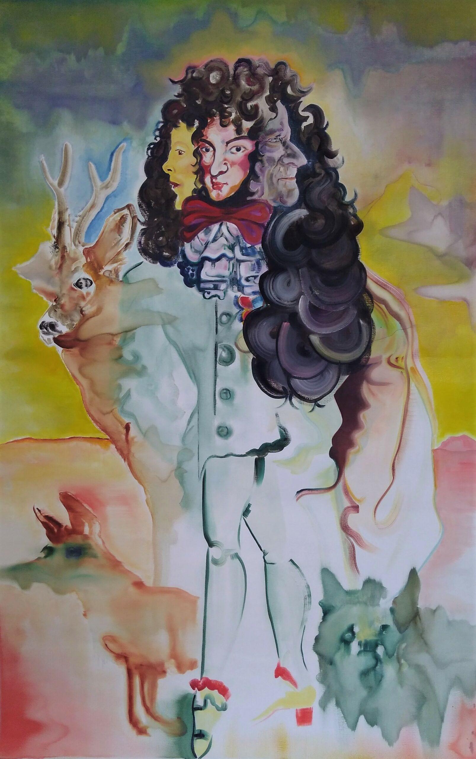 Wouter van de Koot painting faces animals king